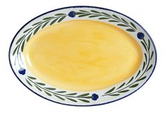 Bella Flora Large Oval Serving Platter by HF Coors. #Handpainted and #madeinUSA. Dishwasher, oven, freezer, and microwave safe.