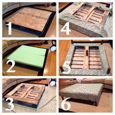 coffee tables, ottomancoffe tabl, diy ottoman coffee table, pallet ottoman diy, diy pallet ottoman, diy ottoman pallet, pallet tables, diy stuff, ottoman coffee table diy