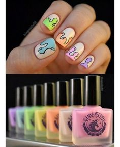 35 Of The Best Summer Nail Art Ideas.dripping ice