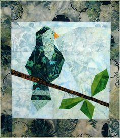 bird - paper piecing #quilt
