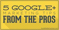 А теперь о Google+ как маркетинговом инструменте. Из серии советы профессионалов профессионалам в Social Media Examiner. Вчера у нас было о LinkedIn. (Из ежедневной новостной ленты страницы ProfySpace-социальный бизнес – https://www.facebook.com/ProfySpace)