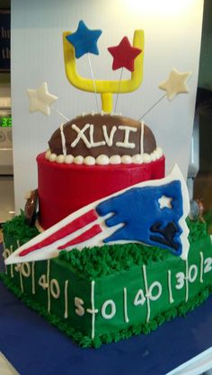 Patriots superbowl cake