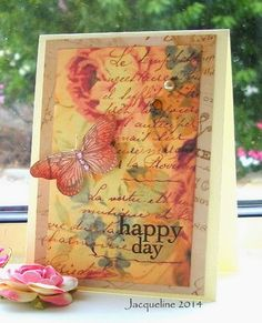Stamp on floral paper