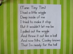 """Line up song- very fun idea. I want to try in with """" a little noise"""" too"""