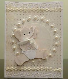 Sweet Baby Card...with pearl trim.