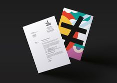 Headed paper with bright illustrative reverse for Freies Theater Hannover by Bureau Hardy Seiler.