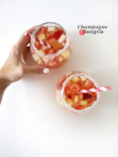 {Cocktail Friday} Champagne Sangria!