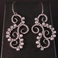 Silver Linked Scroll Earring