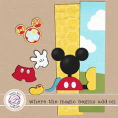 Mickey Mouse digital scrapbook freebie #Mickey #freebie