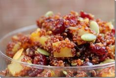 Apple cinnamon cranberry quinoa