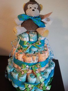 Scentsy Diaper Cake for a Baby Shower! Order your Scentsy Buddy at http://heathersimmons.scentsy.us