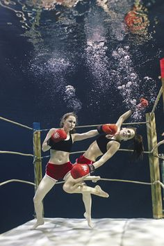 Underwater boxing.  This picture just looks cool.