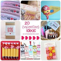 20 super fun valentine ideas...for classroom, teacher, friends, family, or that special someone!  I chose each of these because they were super cute, plus they wouldn't take too long to make or put together.  LOVE!!!  {simplykierste.com}