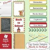 Digital Scrapbook Freebies, Free Project Life Cards #Downloads Book Labels