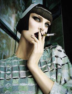 "VISUELLE: ""Haughty"" : Aymeline Valade & Daria Strokous : Vogue Italia February 2013 : Daniele & Iango"