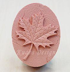 soap mold silicone soap mold Marble Leaf  Kudos Design by Kudosoap, $17.50