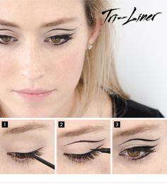 Triple the impact. Find out how to get the Tri-Liner look on the #Sephora Glossy> #makeup #eyeliner