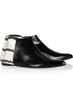 Leather and watersnake ankle boots by Pierre Hardy