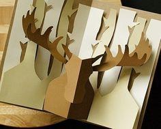 Kirigami Moose Pop-up Card, Make Yourself