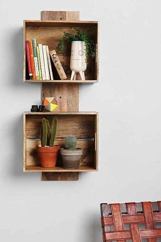 4040 Locust Stacked Crate Wall Shelf - Urban Outfitters -- I feel as though this is something I could easily make, and for a hell of a lot less money.