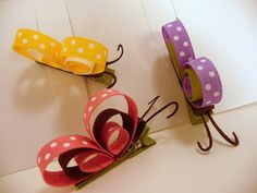 Set of All Three Profile Butterfly Hair Clippies. $9.00, via Etsy.
