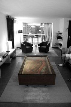 CRASHED FERRARI COFFEE TABLE POR CHARLY MOLINELLI. Furniture