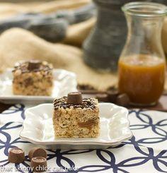 Caramel and Rolo Rice Krispie Treats