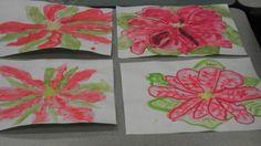 Painting poinsettias
