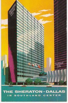 Retro Hotel The Sheraton Dallas Texas