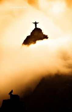 "ღღ ""Flutuando"" by Cesar Okada. ~~~~ Christ The Redeemer, Rio/Brazil"