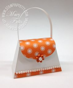 Orange Petite Purse by Petal Pusher - Cards and Paper Crafts at Splitcoaststampers