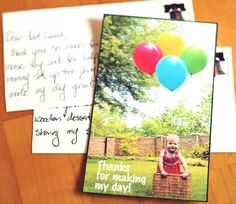 Modern Parents Messy Kids: DIY: Postcard Thank You Notes