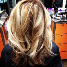 Partial Highlights On Blonde Hair