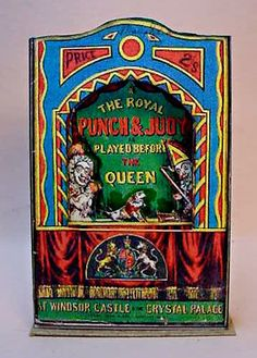 Miniature Paper Royal Punch and Judy Show,