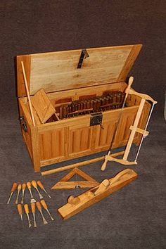 The medieval woodworkers toolbox.