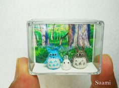Micro Woodland Totoro and Friends  Mini Tiny Dollhouse by suami