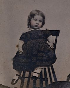 Pre-mortem photo? Another Victorian habit: Your child contracts a fever, or you have reason to think an injury or illness may lead to death, you whisk the child off to a photographer. Yep, it happened and they were called Pre-mortem photos. Why suppose that is the case here? The inscription on the back of this tintype has the age and date of death. 3 years old. Which is what she looks like in this photo.
