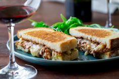 Chipotle BBQ Shredded Chicken Grilled Cheese