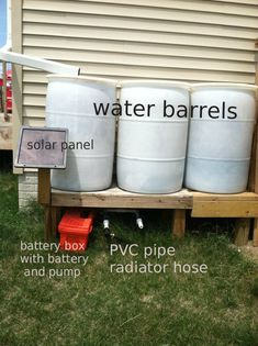 How to make Solar Powered Water Pump for Water Barrels - Sisters Playing House