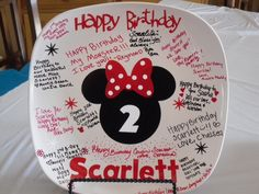 Mickey mouse  birthday plate by BaberzCouture2012 on Etsy, $21.50