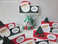 8 Christmas Favor Bag Toppers Treat Bags