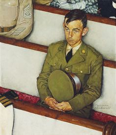 Norman Rockwell (1894-1978) Willie Gillis in Church signed 'Norman/Rockwell' (lower right) oil on canvas 29 x 25 in.