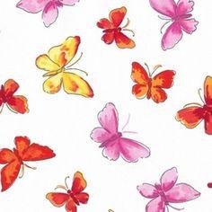 Dear Stella House Designer - Meet Me at Sunset - Butterflies in Orange