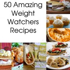 50 Delicious Weight Watchers Recipes.w/ point values  http://pinterest.com/jimmy7641/your-pinterest-bookstore/
