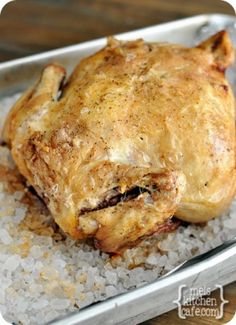 melskitchencafe.com: The Best Roasted Chicken - Rock Salt Roasted