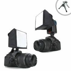 Amazon.com: Pop-Up Soft Box External Flash Diffuser with Mini Tripod for Nikon D3200 , D5100 , D7000 and Many More Nikon Digital SLR Cameras...