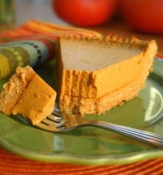 Pumpkin Pie  (Egg-free, Gluten-free, No-bake, Dairy-free) - If you do not eat honey then trade that for avage nectar to make this a true vegan meal.