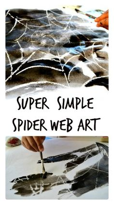Easy and cute spider web art for kids
