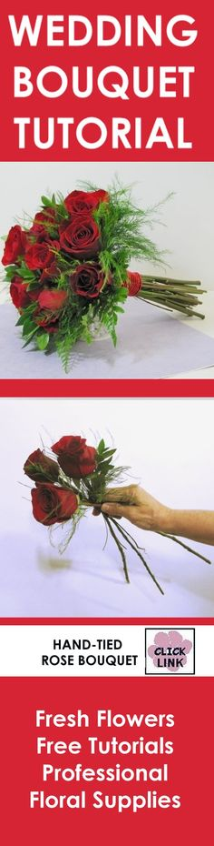 Easy step by step instructions on making hand tied bridal bouquets.  http://www.wedding-flowers-and-reception-ideas.com/hand-tied-bridal-bouquets-tutorial.html
