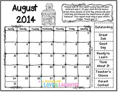 Teaching With Love and Laughter: 2014-2015 Clip Chart Calendars